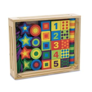 Детски дървени мъниста за нанизване Различни форми Melissa & Doug 13775 (1)