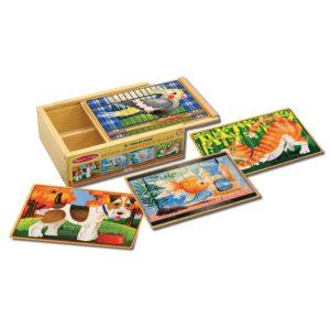 Детски дървени пъзели в кутия Домашни любимци Melissa & Doug 13790 (1)