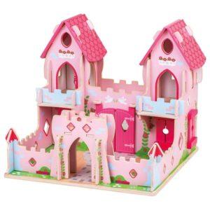 Детски дървен замък Замъкът на приказките BigJigs JT150 1