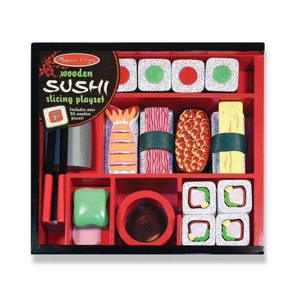 Детски дървен комплект за рязане Суши Melissa & Doug 12608 (1)