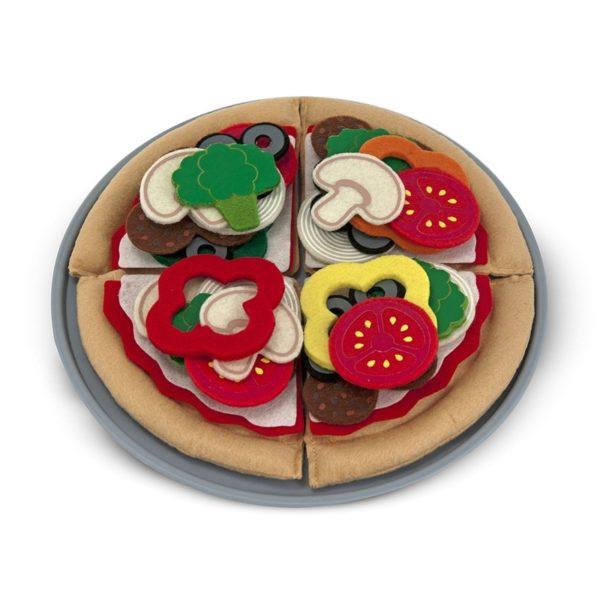 Детски дървен комплект за хранене Продукти за пица Melissa & Doug 13974 (1)