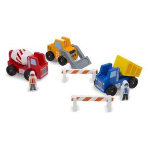 Детски дървен комплект от превозни средства Строителна площадка Melissa & Doug 10656 (1)