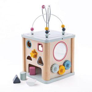 Детски дървен куб с активности BigJigs 32009 (1)