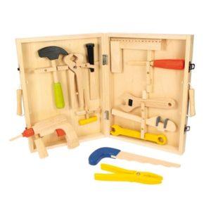 Детски дървен куфар с инструменти BigJigs BJ245
