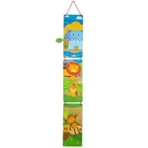 Детски дървен метър за стена Животните от джунглата BigJigs T0626 1