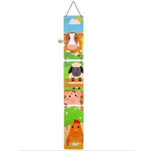 Детски дървен метър за стена Животните от фермата BigJigs T0625 (1)