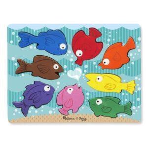 Детски дървен пъзел Многоцветни рибки Melissa & Doug 19003 (1)