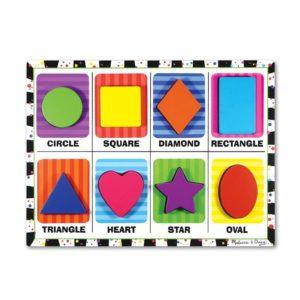 Детски дървен пъзел Цветни фигури Melissa & Doug 13730 (1)