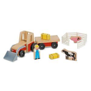 Детски дървен трактор с аксесоари Melissa & Doug 19392 (1)