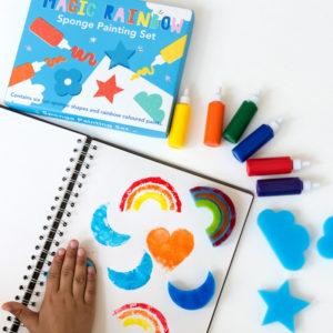 Детски комплект за рисуване с гъби и боички Магическа дъга Rex London 28574 (1)