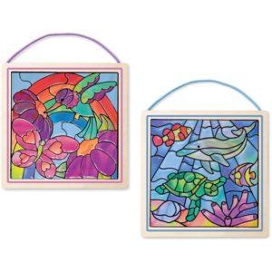 Детски комплект за стъклопис със стикери Океан Melissa & Doug 18582 (1)
