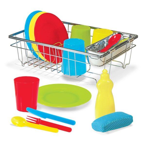 Детски комплект сушилня със съдове и прибори Melissa & Doug 14282 (1)