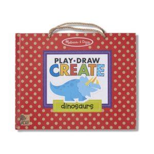Детски комплект с магнити за многократно рисуване Играй, рисувай и създавай Динозаври Melissa & Doug 41321 (1)