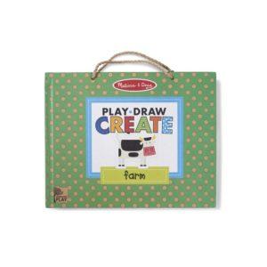 Детски комплект с магнити за многократно рисуване Играй, рисувай и създавай Забавление във фермата Melissa & Doug 41325 (1)
