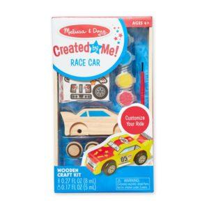 Детски креативен комплект Оцвети дървена състезателна количка Melissa & Doug 18829 (1)