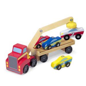 Детски магнитен дървен автовоз с коли Melissa & Doug 19390 (1)