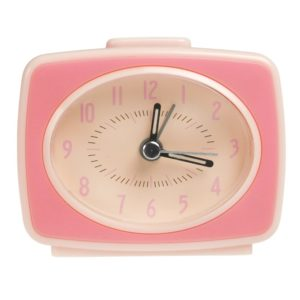 Детски ретро будилник с дизайн на телевизор Розов Rex London 24956 (1)