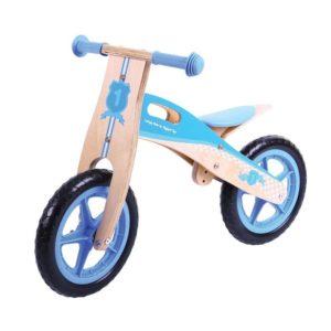 Детско дървено колело за баланс Синьо BigJigs BJ774 1