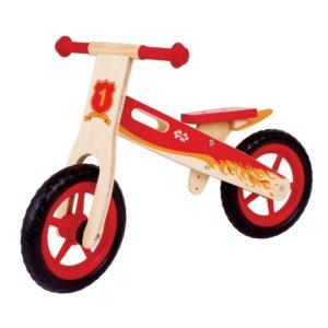 Детско дървено колело за баланс Червено BigJigs BJ776 (1)