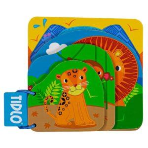 Дървена бебешка книжка Джунгла Bigjigs T0627 (1)