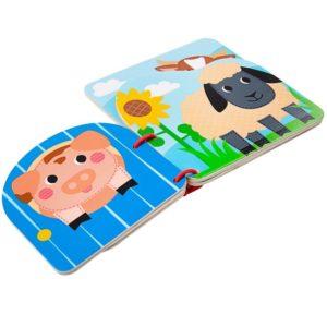 Дървена бебешка книжка Ферма Bigjigs T0239 1