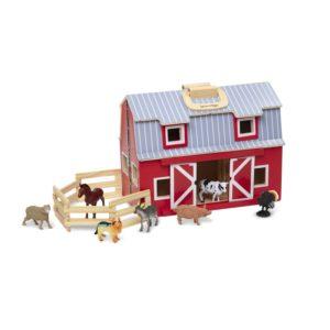 Дървена играчка Сгъваем хамбар с животни Melissa & Doug 13700 (1)