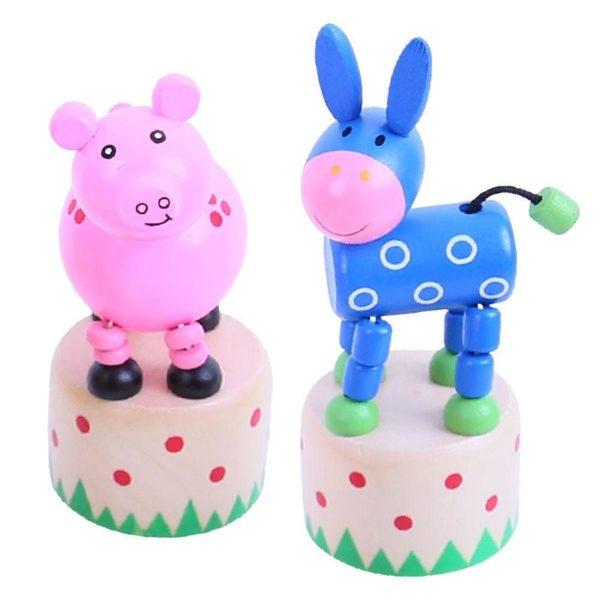 Дървена играчка Танцуващи животни Ферма Bigjigs BJ894 (1)