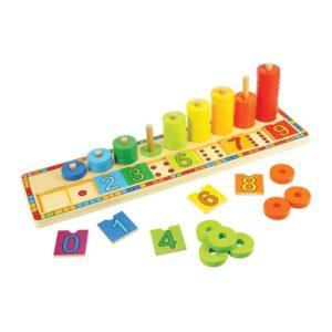 Дървена играчка Уча се да броя BigJigs BJ531 1 (1)