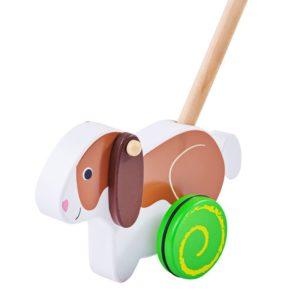 Дървена играчка за бутане Заек BigJigs BB130 (1)