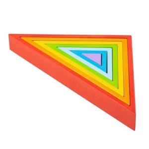 Дървена играчка за сортиране Триъгълници BigJigs BB300 (1)