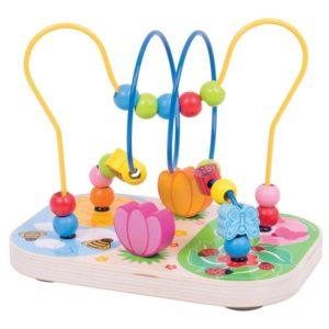 Дървена играчка лабиринт Цветна градина BigJigs BB128 (1)