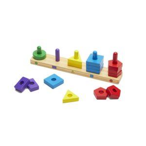 Дървена игра за нанизване Геометрични фигури Melissa & Doug 10379 (1)