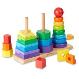 Дървена игра за нанизване Геометрични фигури Melissa & Doug 10567 (1)