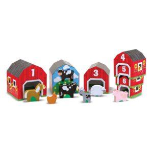 Дървена игра за сортиране Къщички с животни Melissa & Doug 12434 (1)