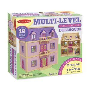 Дървена къща за кукли на три етажа с обзавеждане Melissa & Doug 14570 (1)