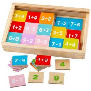 Дървена образователна игра Събиране и изваждане Bigjigs BJ511 (1)