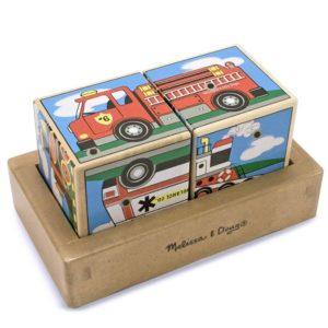 Дървени музикални кубчета Превозни средства Melissa & Doug 11272 (1)