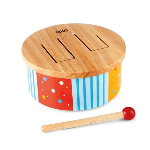 Дървено барабанче Дъга BigJigs T0211 1