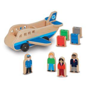 Дървено самолетче за сортиране с пътници и багаж Melissa & Doug 19394 (1)