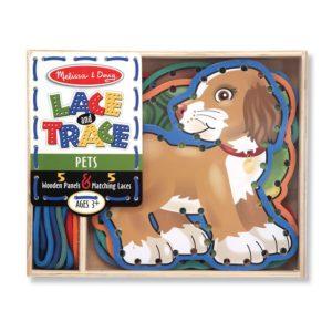 Дървен комплект за нанизване на шнурове Домашни любимци Melissa & Doug 13782 (1)