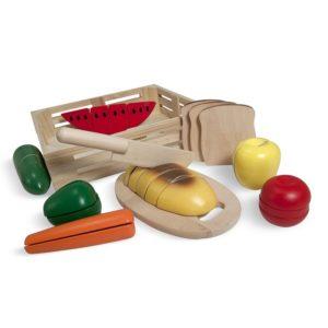 Дървен комплект за рязане Хранителни продукти Melissa & Doug 10487 (1)