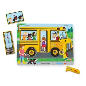Дървен музикален пъзел с дръжки Рими Автобус Melissa & Doug 10739 (1)