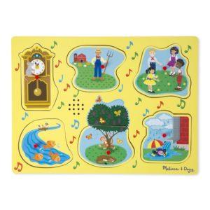 Дървен музикален пъзел с дръжки Рими Melissa & Doug 10735 (1)