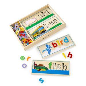 Дървен образователен пъзел Изписвай думи на английски език Melissa & Doug 12940 (1)