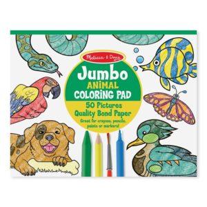 Книжка за оцветяване Джъмбо Животни Melissa & Doug 14200 (1)