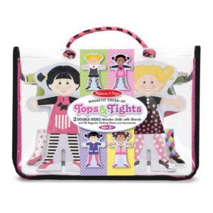 Комплект магнитни кукли за преобличане в чантичка Melissa & Doug 14943 (1)