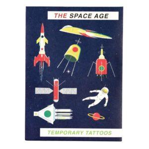 Комплект от 2 листа детски татуировки Космос Rex London 28323 1