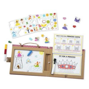Комплект с магнити за многократно рисуване Играй, рисувай и създавай Принцеси Melissa & Doug 41322 (1)