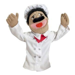 Кукла за ръка за куклен театър Главен готвач Melissa & Doug 40353 (1)