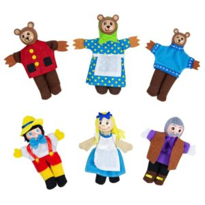 Кукли за пръсти за куклен театър Златокоска 6 броя BigJigs BJ706 1
